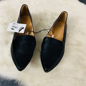 work  black flat pointed shoes size 8.5 loafers b7
